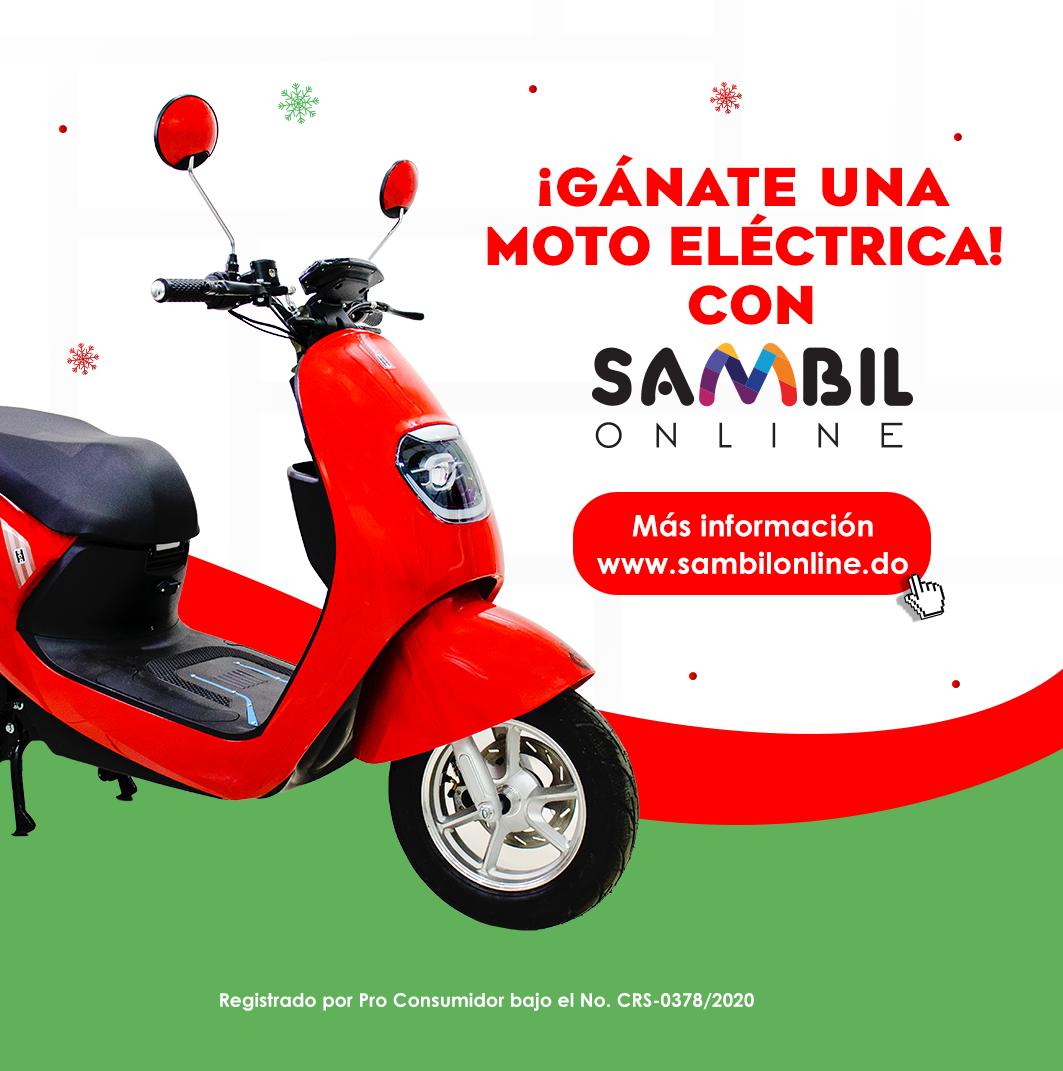GÁNATE UNA MOTO ELÉCTRICA CON SAMBIL ONLINE