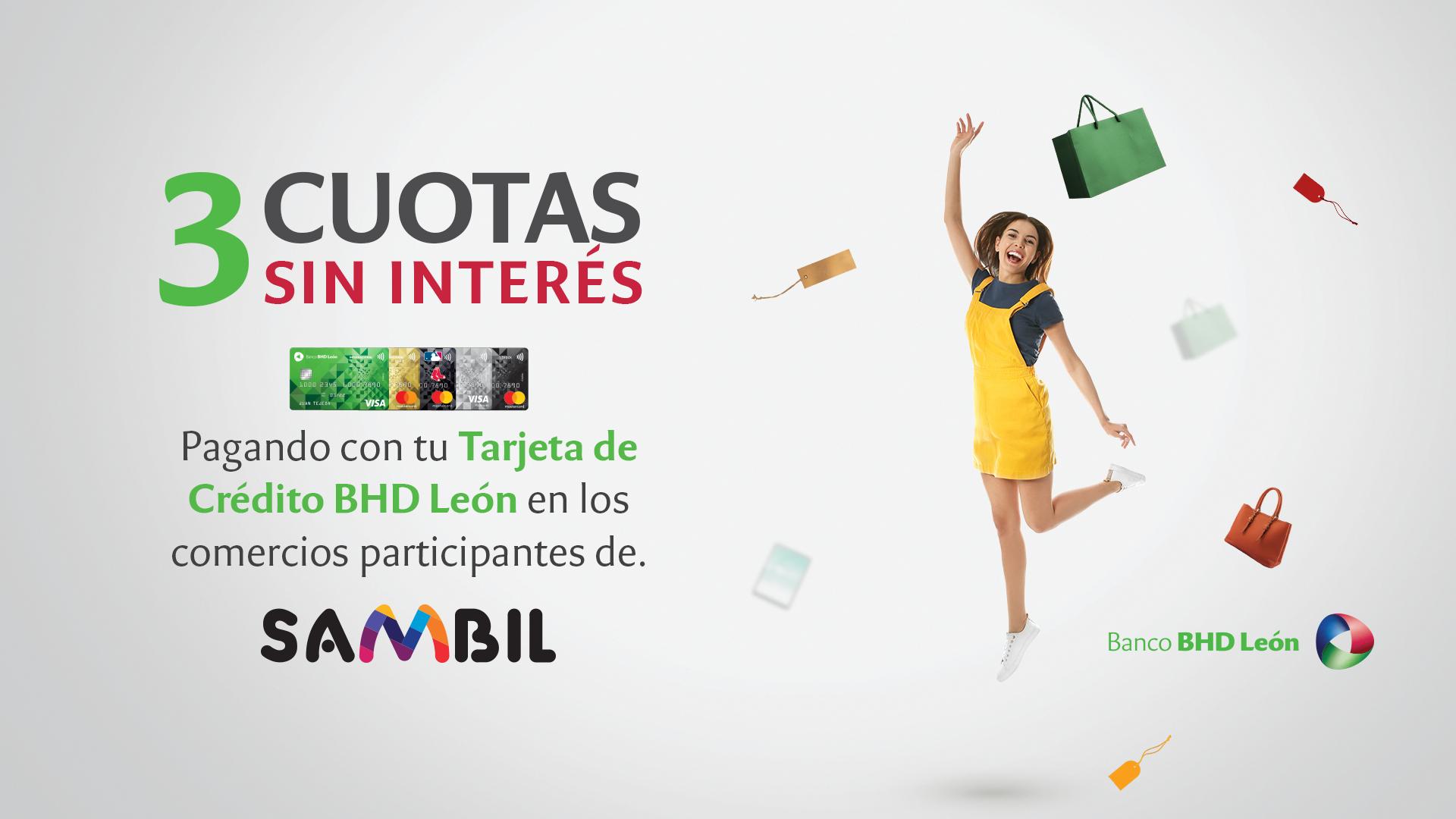 ¡Ahora podrás dividir tus compras en 3 Cuotas Sin Interés en las tiendas de @tusambildo!
