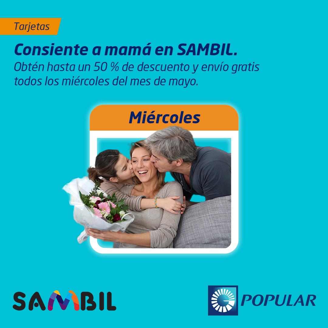 Consiente a mamá en SAMBIL